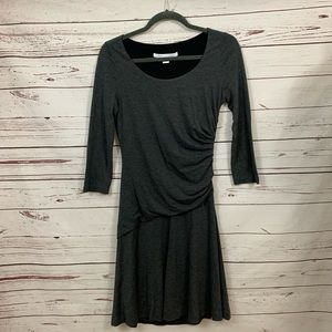 DVF Diane Vin Furstenberg ruched gray dress